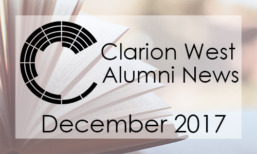 Clarion West Alumni News, December 2017